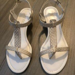 New Leather White Sandals/Wedges, Ralf Lauren